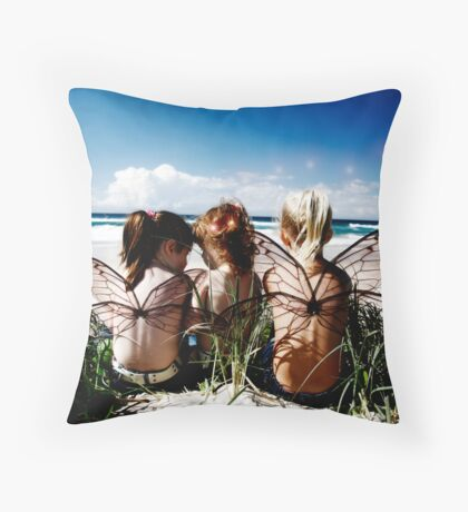 Soon you'll have your wings Throw Pillow