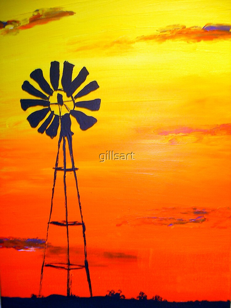 Sunset Outback  by gillsart