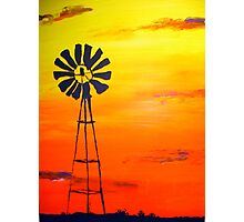Sunset Outback  Photographic Print