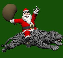 Santa Claus Riding On Grey Panther by Mythos57