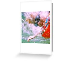 Jumping Through Hoops Greeting Card