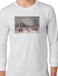 American Winter Scene Long Sleeve T-Shirt