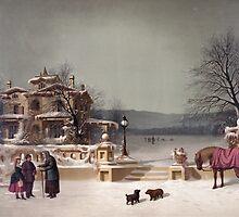 American Winter Scene by Vintage Works