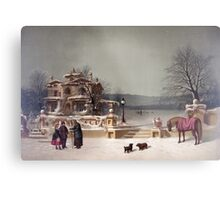 American Winter Scene Metal Print