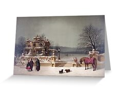 American Winter Scene Greeting Card