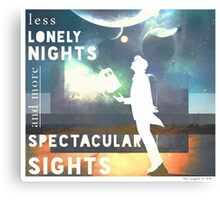 Less Lonely Nights Canvas Print