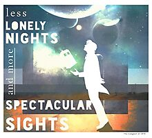 Less Lonely Nights Photographic Print