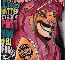 Captain Simba Sparrow of Pride Rock of the Caribbean by KomondoredBlobF