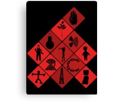 Depeche Mode : Logo Tribute Canvas Print