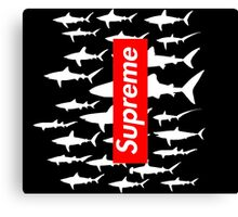 Supreme sharks BLACK Canvas Print