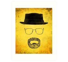 "Heisenberg's Haberdashery - ""Hazmat Suit"" Yellow Art Print"