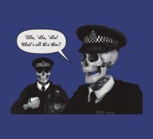 Skeleton Police (Blue) by Malcolm Kirk