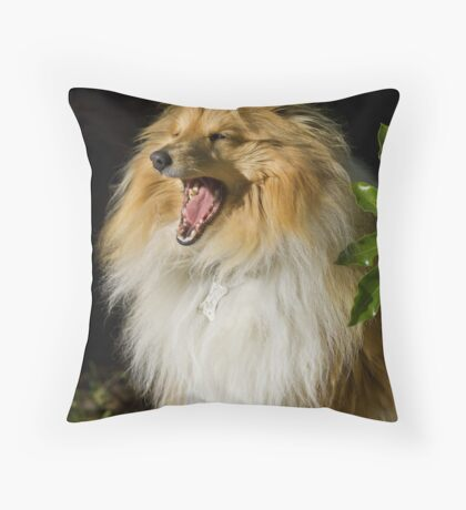Shelly the Sheltie Throw Pillow