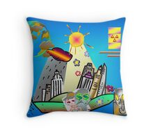 Stop Pollution Now! Throw Pillow