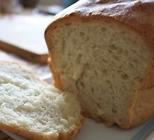 warm, nice, fluff homemade bread by my 15 yrs old daughter.  Food, kitchen and cooking. by naturematters