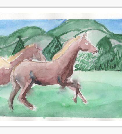 Playful horses  Sticker