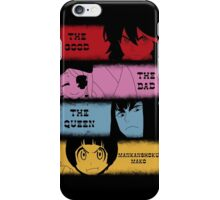 The good, The Bad, The Queen & Mankanshoku Mako iPhone Case/Skin