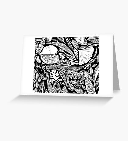 Nature in black Greeting Card