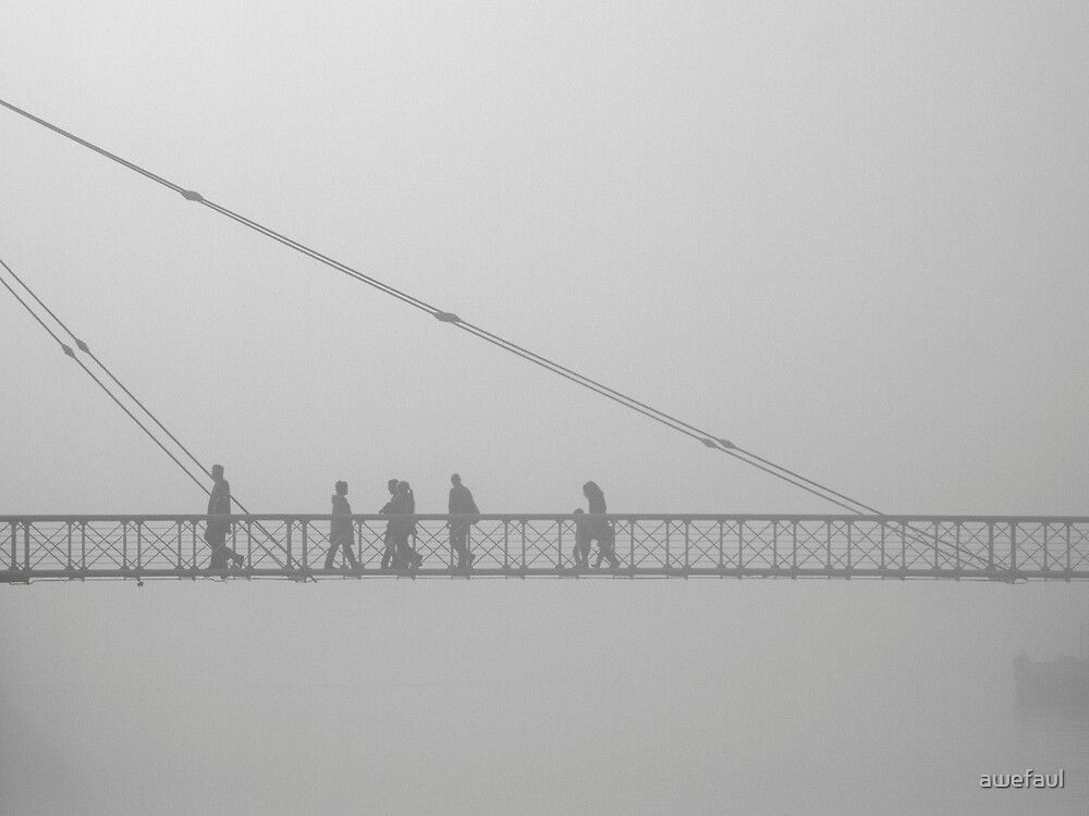 Misty crossing by awefaul
