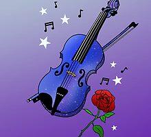 Blue Violin by MaimeeO