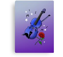 Blue Violin Canvas Print