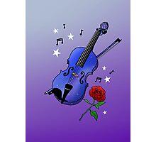Blue Violin Photographic Print