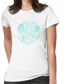 Sky blue leaves Womens Fitted T-Shirt