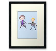 John and Sherlock on the Run Framed Print