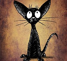 Funny Little Black Cat by StrangeStore