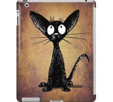 Funny Little Black Cat iPad Case/Skin