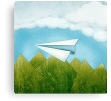 Paper AIrplane 46 Canvas Print