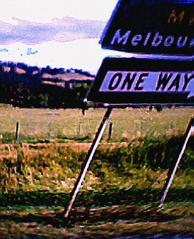 Melbourne One Way by Erica Corr