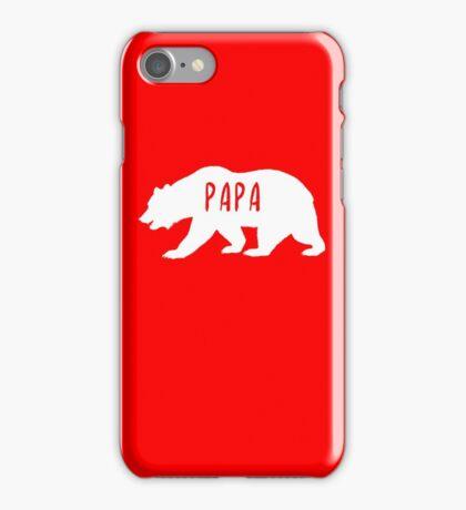 Matching Cute Papa Bear T-Shirt iPhone Case/Skin
