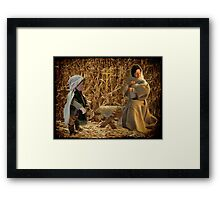 Come they told me Pa rum pum pum pum A new born King to see Pa rum pum pum pum>DRUMMER BOY & BIRTH OF THE KING >PICTURE - CARD-ECT Framed Print