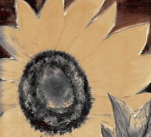 Oil Sunflower 1 Sepia Tone Poster Print by derekmccrea