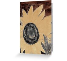 Oil Sunflower 1 Sepia Tone Poster Print Greeting Card