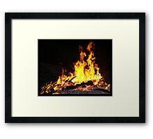 Firey Visions Framed Print