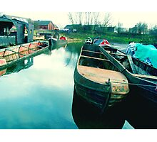 Abandoned Boats Photographic Print