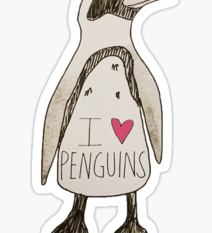 I Love Penguins  Sticker
