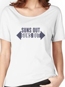 Suns Out Guns Out Fitness Women's Relaxed Fit T-Shirt