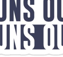 Suns Out Guns Out Fitness Sticker