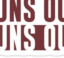 Suns Out Guns Out Fitness Sticker