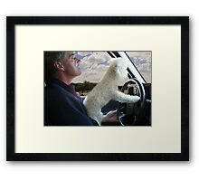 """☸•°*""""˜SIT BACK AND RELAX - LET ME SHOW U HOW TO DRIVE CANINE STYLE--INCLUDED IS MY WRITTEN POEM""""*°•☸ Framed Print"""