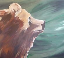 Grizzly Profile Country Cabin Decor by JodiErin