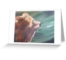 Grizzly Profile Country Cabin Decor Greeting Card