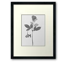 Depeche Mode : Violator's Grey Rose Framed Print