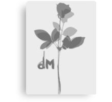 Depeche Mode : Violator's Grey Rose Canvas Print