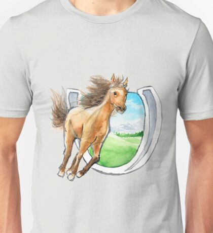 Buckskin Horseshoe Unisex T-Shirt