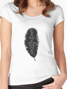 Let the Beauty Rumi  Women's Fitted Scoop T-Shirt
