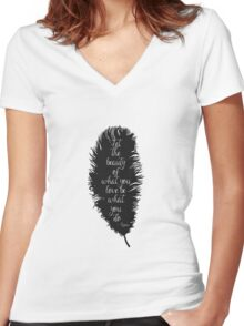 Let the Beauty Rumi  Women's Fitted V-Neck T-Shirt